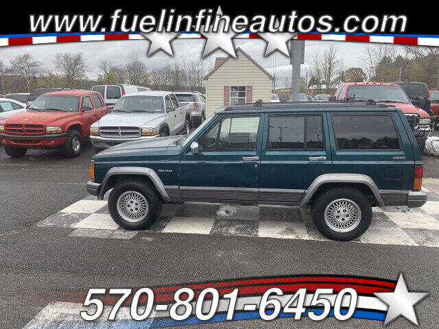 1995 Jeep Cherokee for sale at FUELIN FINE AUTO SALES INC in Saylorsburg PA