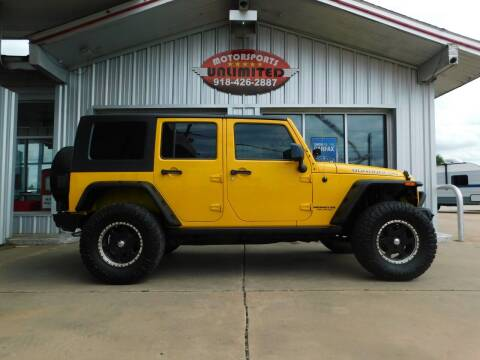 2009 Jeep Wrangler Unlimited for sale at Motorsports Unlimited in McAlester OK