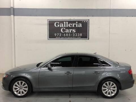 2012 Audi A4 for sale at Galleria Cars in Dallas TX