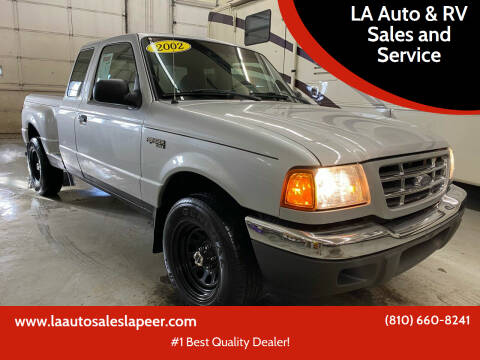 2002 Ford Ranger for sale at LA Auto & RV Sales and Service in Lapeer MI