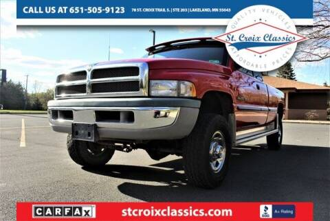 1998 Dodge Ram Pickup 2500 for sale at St. Croix Classics in Lakeland MN