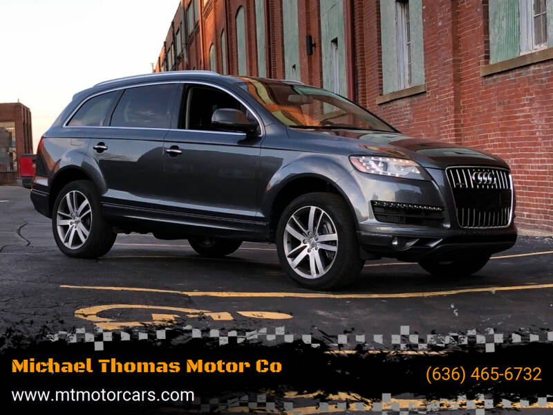 2013 Audi Q7 for sale at Michael Thomas Motor Co in Saint Charles MO