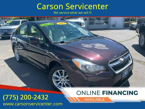 2013 Subaru Impreza for sale at Carson Servicenter in Carson City NV