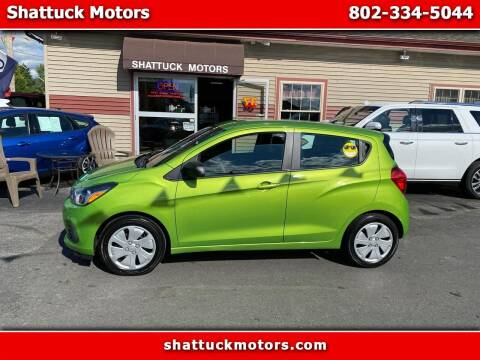 2016 Chevrolet Spark for sale at Shattuck Motors in Newport VT