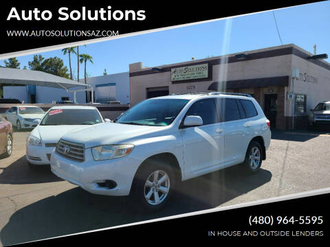 2008 Toyota Highlander for sale at Auto Solutions in Mesa AZ