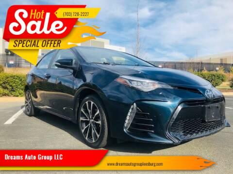 2017 Toyota Corolla for sale at Dreams Auto Sales LLC in Leesburg VA