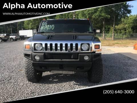 2006 HUMMER H2 for sale at Alpha Automotive in Odenville AL