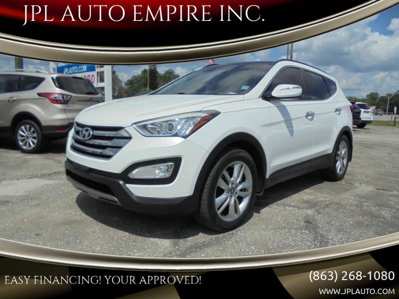 2015 Hyundai Santa Fe Sport for sale at JPL AUTO EMPIRE INC. in Auburndale FL