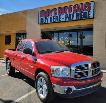 2008 Dodge Ram Pickup 1500 for sale at Marys Auto Sales in Phoenix AZ