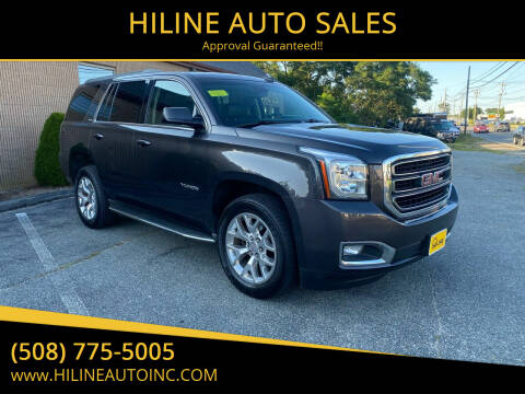 2015 GMC Yukon for sale at HILINE AUTO SALES in Hyannis MA