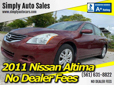 2011 Nissan Altima for sale at Simply Auto Sales in Palm Beach Gardens FL