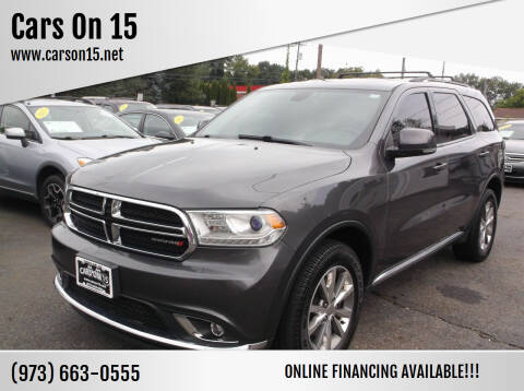 2015 Dodge Durango for sale at Cars On 15 in Lake Hopatcong NJ