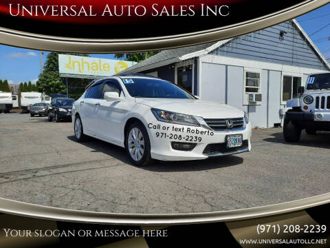 2015 Honda Accord for sale at Universal Auto Sales Inc in Salem OR