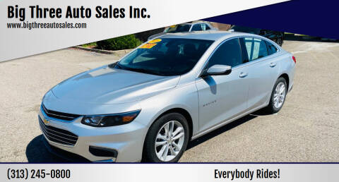 2018 Chevrolet Malibu for sale at Big Three Auto Sales Inc. in Detroit MI