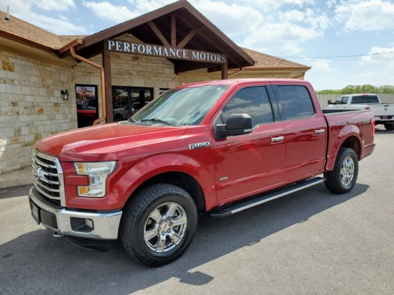 2015 Ford F-150 for sale at Performance Motors Killeen Second Chance in Killeen TX