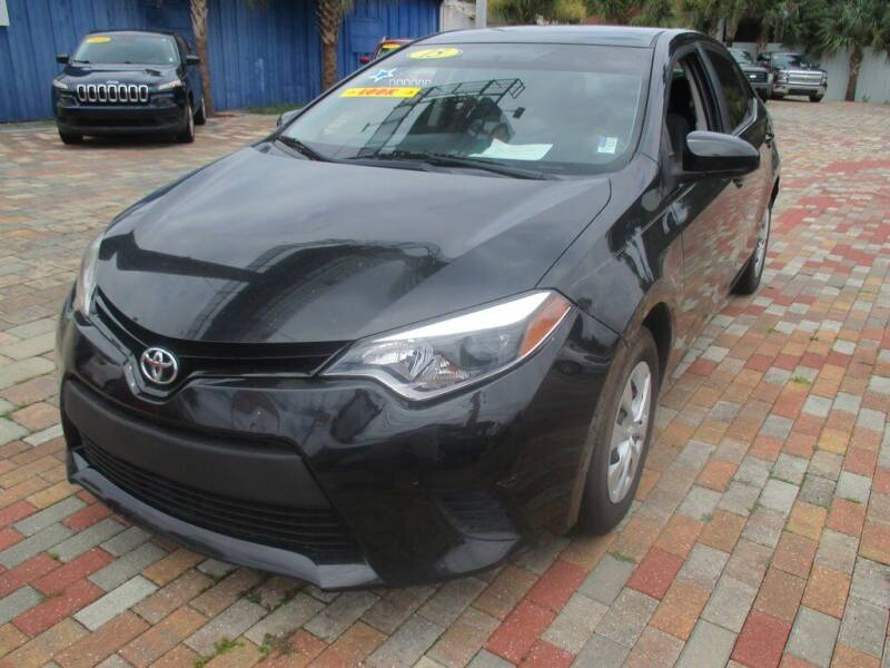 2015 Toyota Corolla for sale at Affordable Auto Motors in Jacksonville FL