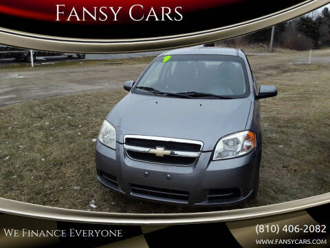 2009 Chevrolet Aveo for sale at Fansy Cars in Mount Morris MI