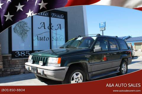 1993 Jeep Grand Cherokee for sale at A&A Auto Sales in Orem UT