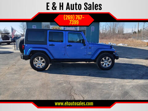 2015 Jeep Wrangler Unlimited for sale at E & H Auto Sales in South Haven MI
