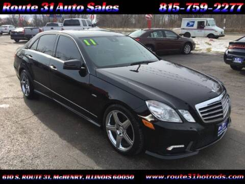 2011 Mercedes-Benz E-Class for sale at ROUTE 31 AUTO SALES in McHenry IL