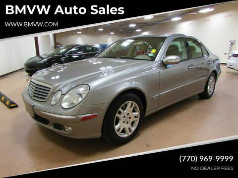2003 Mercedes-Benz E-Class for sale at BMVW Auto Sales in Union City GA