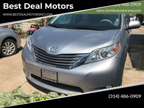 2013 Toyota Sienna for sale at Best Deal Motors in Saint Charles MO