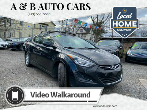 2014 Hyundai Elantra for sale at A & B Auto Cars in Newark NJ