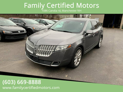 2010 Lincoln MKT for sale at Family Certified Motors in Manchester NH