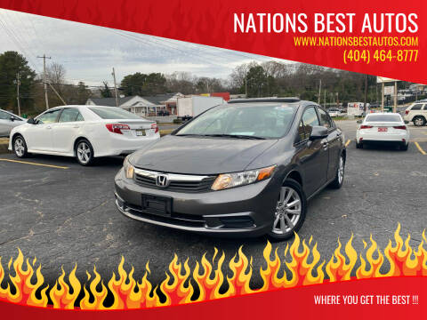 2012 Honda Civic for sale at Nations Best Autos in Decatur GA
