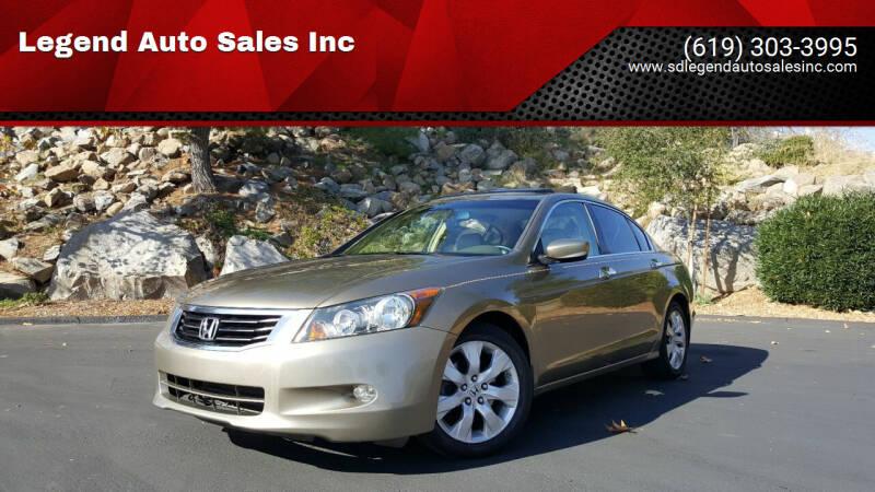 2008 Honda Accord for sale at Legend Auto Sales Inc in Lemon Grove CA