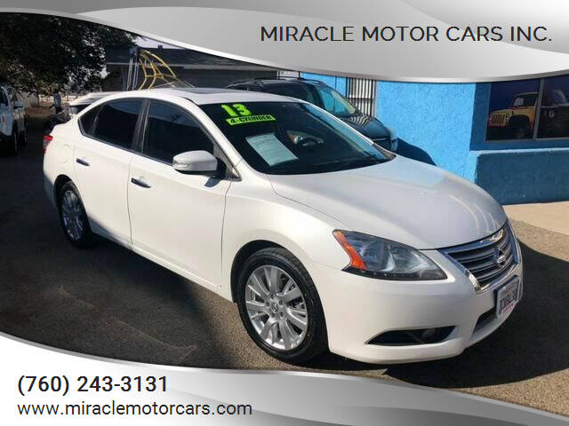 2013 Nissan Sentra for sale at Miracle Motor Cars Inc. in Victorville CA