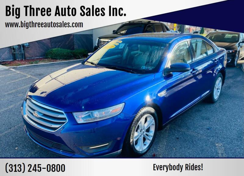 2013 Ford Taurus for sale at Big Three Auto Sales Inc. in Detroit MI