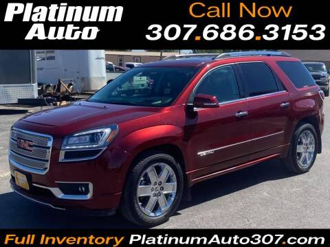 2015 GMC Acadia for sale at Platinum Auto in Gillette WY