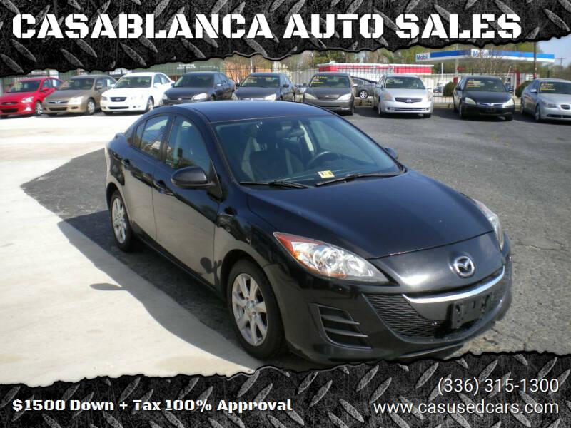 2010 Mazda MAZDA3 for sale at CASABLANCA AUTO SALES in Greensboro NC