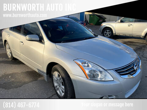 2012 Nissan Altima for sale at BURNWORTH AUTO INC in Windber PA