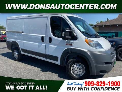 2016 RAM ProMaster Cargo for sale at Dons Auto Center in Fontana CA