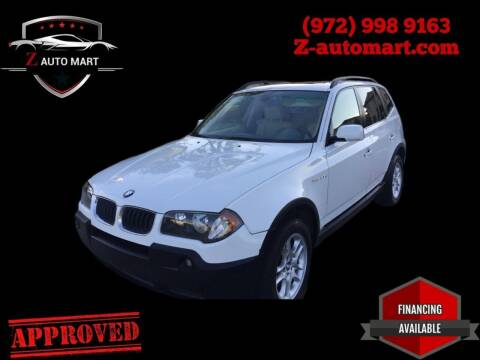 2007 BMW X3 for sale at Z AUTO MART in Lewisville TX