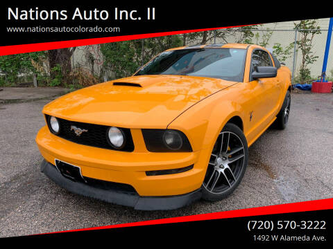 2007 Ford Mustang for sale at Nations Auto Inc. II in Denver CO