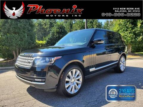 2015 Land Rover Range Rover for sale at Phoenix Motors Inc in Raleigh NC