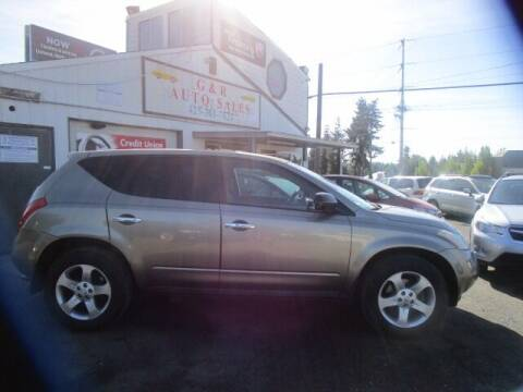2003 Nissan Murano for sale at G&R Auto Sales in Lynnwood WA