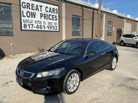 2009 Honda Accord for sale at BARCLAY MOTOR COMPANY in Arlington TX