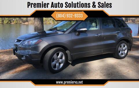 2008 Acura RDX for sale at Premier Auto Solutions & Sales in Quinton VA