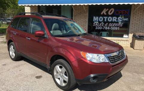 2010 Subaru Forester for sale at K O Motors in Akron OH