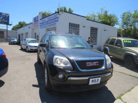 2012 GMC Acadia for sale at Nile Auto Sales in Denver CO