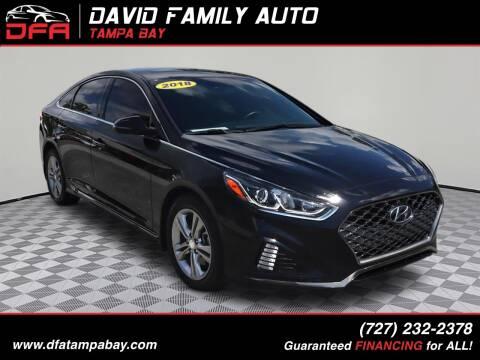 2018 Hyundai Sonata for sale at David Family Auto in New Port Richey FL