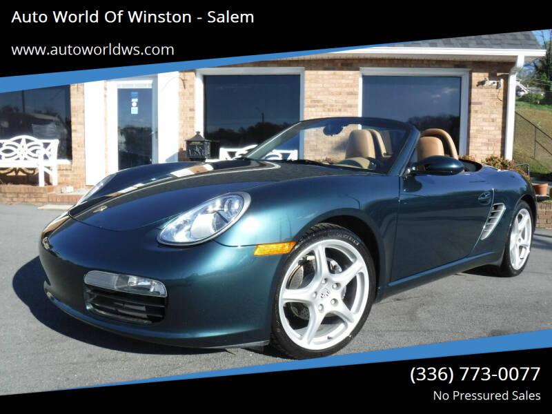 2005 Porsche Boxster for sale at Auto World Of Winston - Salem in Winston Salem NC