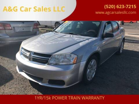 2014 Dodge Avenger for sale at A&G Car Sales  LLC in Tucson AZ