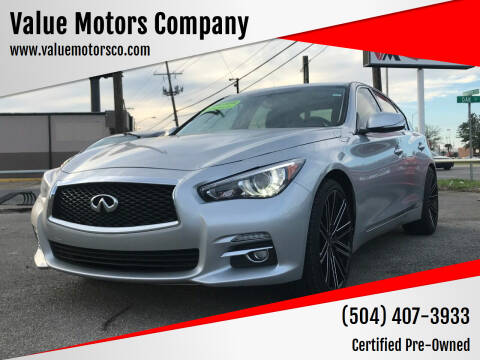 2014 Infiniti Q50 for sale at Value Motors Company in Marrero LA