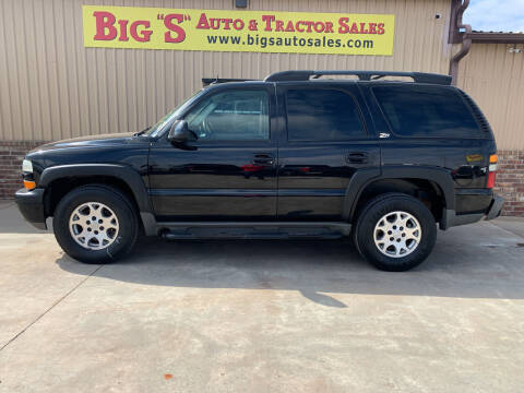 2004 Chevrolet Tahoe for sale at BIG 'S' AUTO & TRACTOR SALES in Blanchard OK
