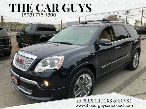 2012 GMC Acadia for sale at The Car Guys in Hyannis MA